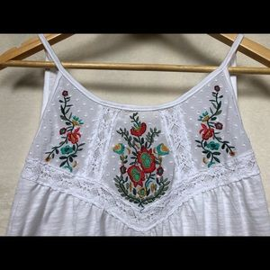 Needlepoint Detail Tank